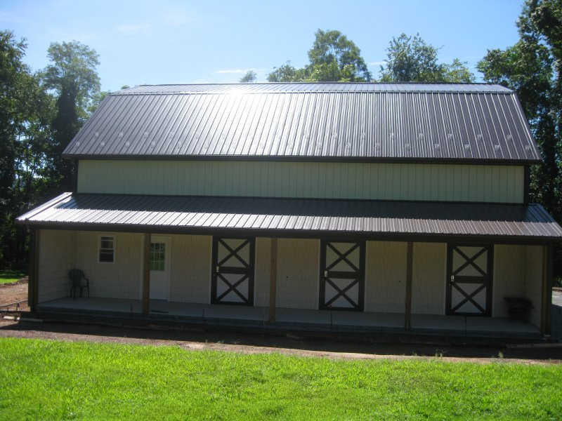 40' x 48' x 15' gambrel roof garage with a 16' x 48' upper room
