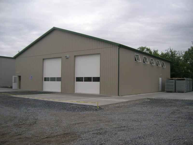 40 x 60 metal building for 2 car pole garage