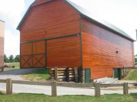 New cedar siding and metal roof on exisitng barn